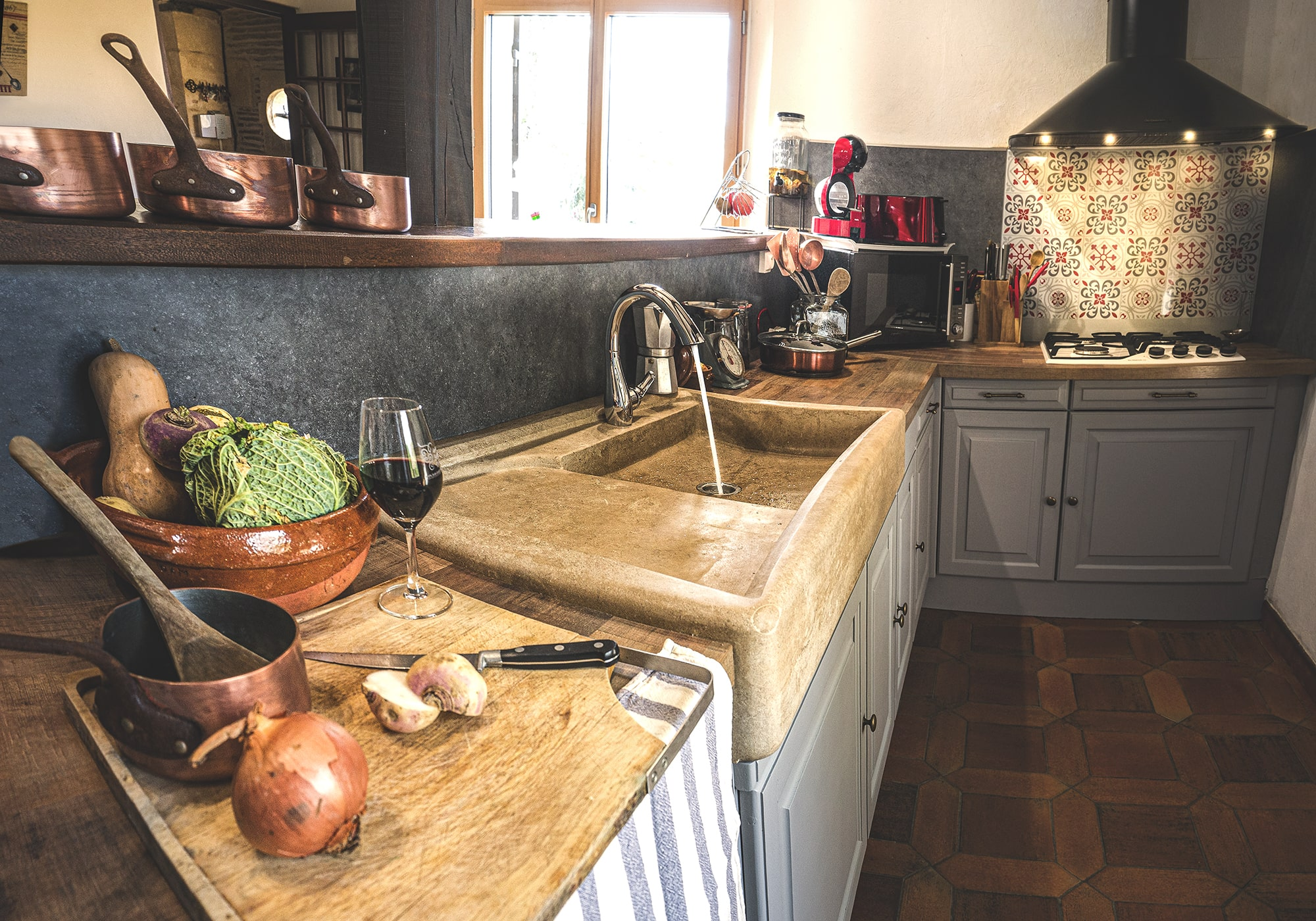 Evier de cuisine en pierre