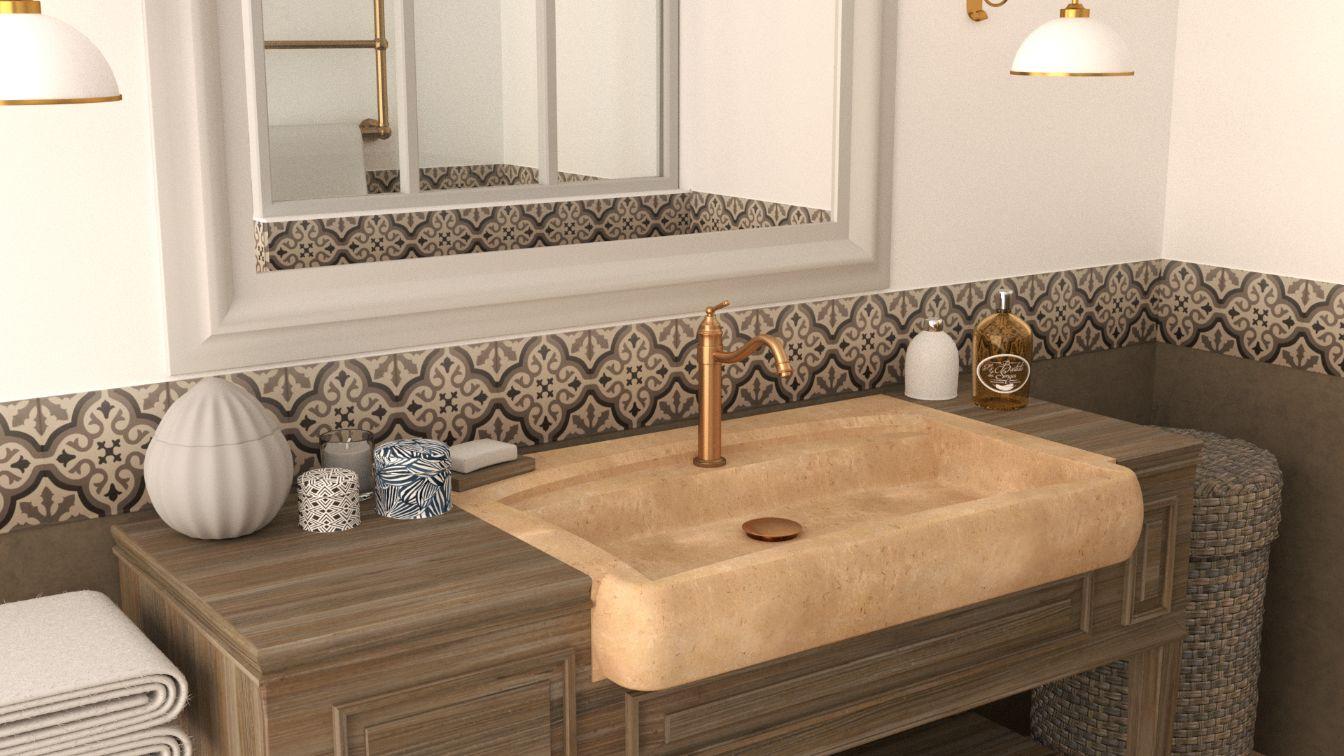 Habitat Meuble De Salle De Bain créez votre vasque de salle de bain en pierre naturelle