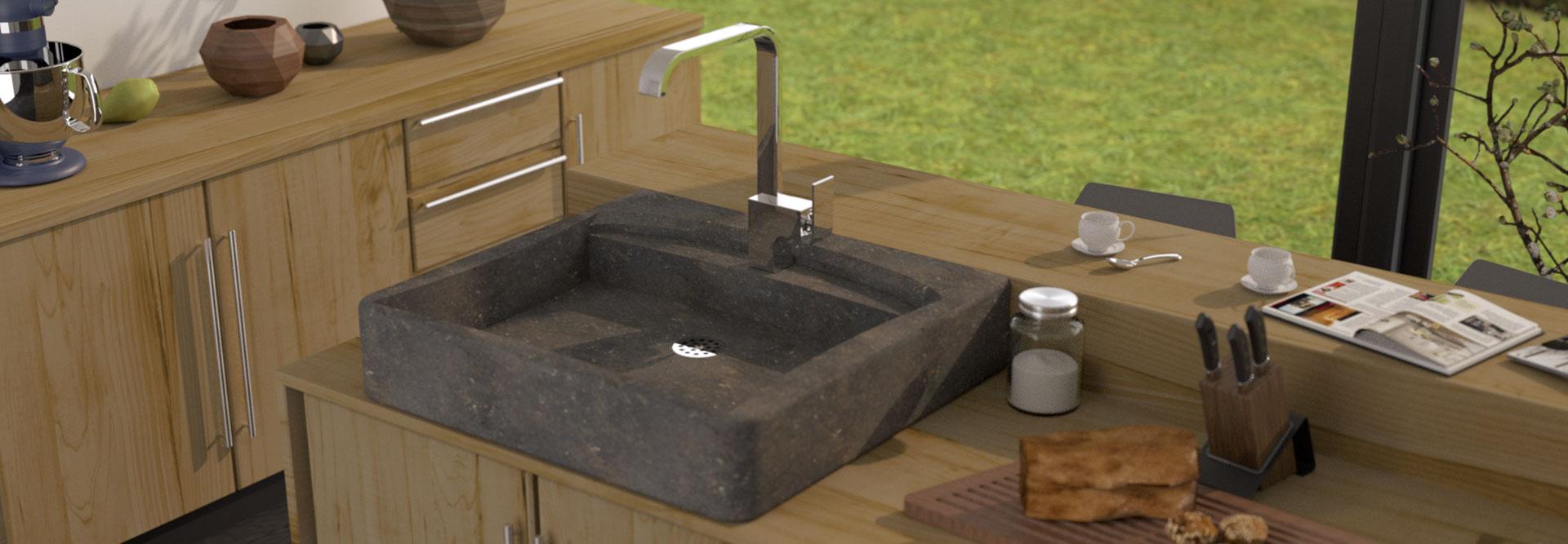 Plan Vasque En Pierre créez votre évier de cuisine en pierre 100 % personnalisé